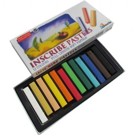 Inscribe Soft Pastel Set 12 Colours Full Size